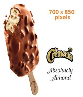 LA CREMERIA Absolutely Almond Ice Cream, 75ml (Pack of 24)