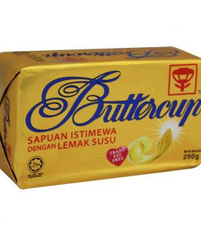 1 carton Buttercup Fat Free Luxury Spread 250g (60 packs)