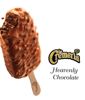 LA CREMERIA Heavenly Chocolate Ice Cream, 75ml (Pack of 24)