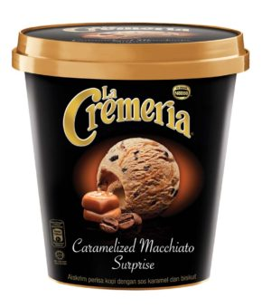 LA CREMERIA Caramelized Macchiato Surprise Ice Cream, 750ml