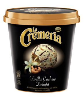 LA CREMERIA Vanilla Cashew Delight Ice Cream, 750ml