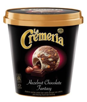 LA CREMERIA Chocolate Hazelnut Fantasy Ice Cream, 750ml