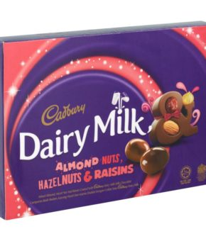 Cadbury Dairy Milk Almond Nuts, Hazelnuts & Raisins 180g