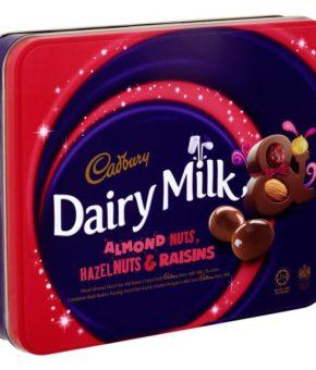 Cadbury Dairy Milk Almond Nuts, Hazelnuts & Raisins 300g