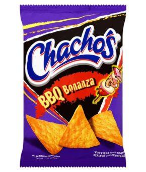 10 packs of Chacho's BBQ Bonanza Tortilla Corn Chips 80g