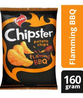 Twisties Chipster Flaming BBQ Potato Chips 160g