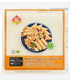 KG Pastry Plain Spring Roll Pastry 50 Sheets 500g (7.5')