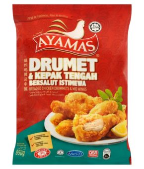 Ayamas Breaded Chicken Drummets & Mid Wings 850g