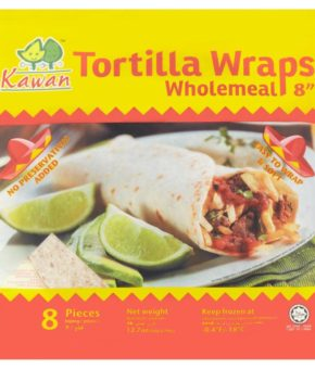 Kawan Wholemeal Tortilla Wraps 8pcs 360g