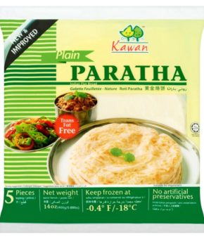 Kawan 5 Plain Paratha Indian Flat Bread 400g