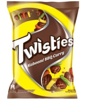 10 x Twisties K Bbq Curry 65g