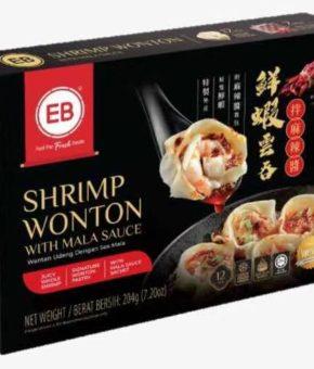 EB SHRIMP WANTON WITH MALA SAUCE 麻辣虾肉云吞