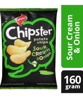 Twisties Chipster Sour Cream And Onion Potato Chips 160g