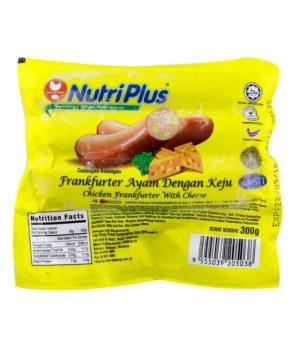 NUTRIPLUS CHICKEN FRANK CHEESE 300G