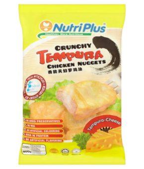 NUTRIPLUS TEMPURA CHICKEN NUGGET CHEESE 800G