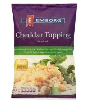 Emborg Shredded Cheddar Topping 200g
